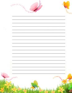 Pretty Spring Letter Writing Paper