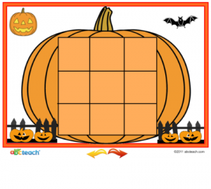 Pumpkin Tic Tac Toe Printable