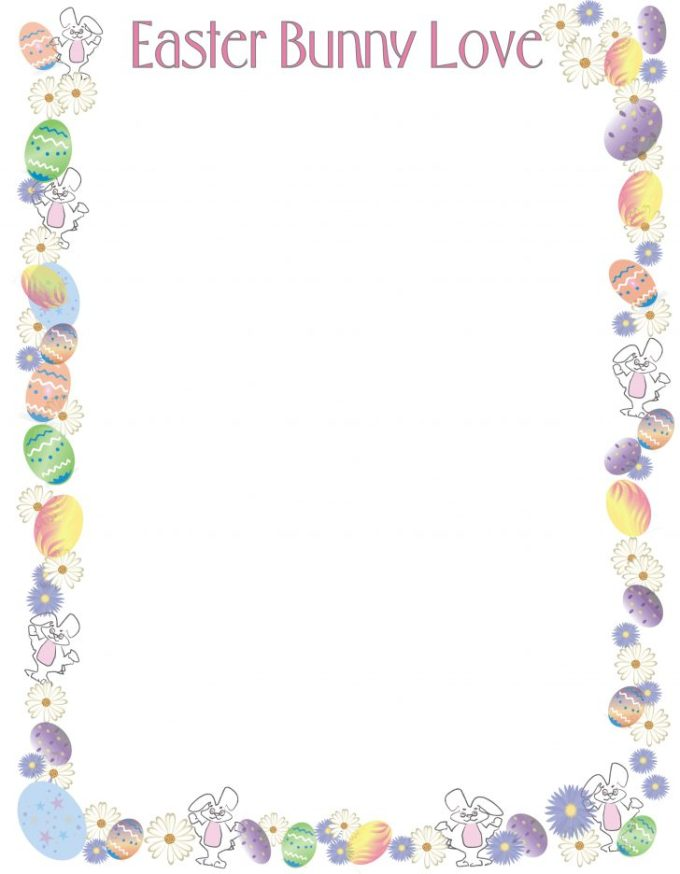 graphic relating to Easter Bunny Letterhead referred to as 20 Playful Easter Bunny Letters