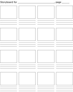 Sample Storyboard Planning Template