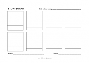 Storyboard Layout Template 8 Boxes