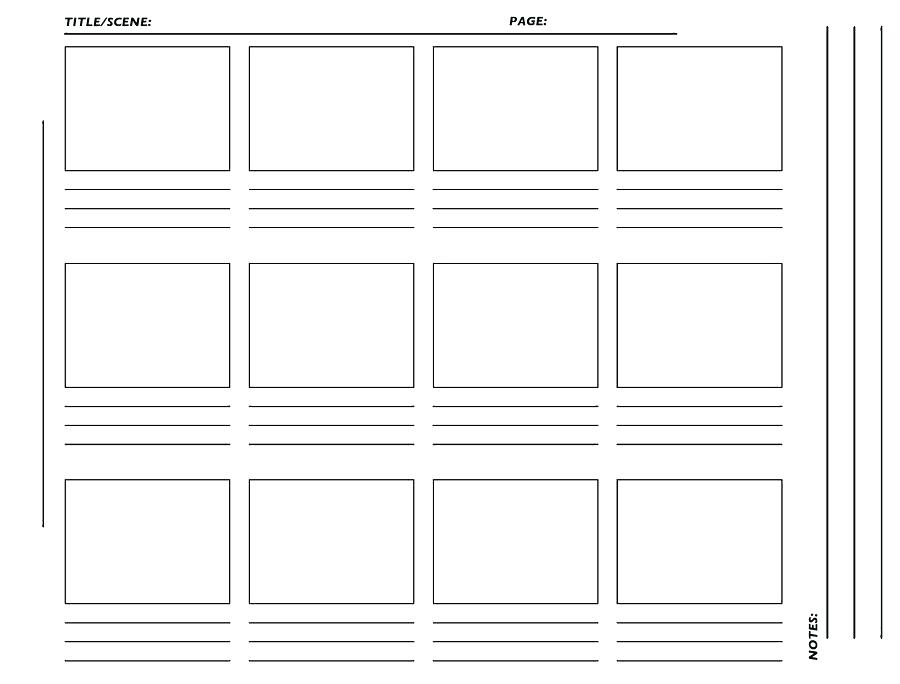 graphic regarding Storyboard Printable named 48 Storyboard Templates for Unleashing Your Inventive Spirit