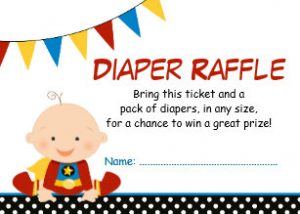 Superhero Diaper Raffle Tickets
