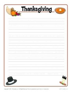 Thanksgiving Letter Writing Paper