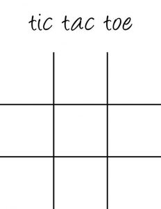 Tic Tac Toe Game Printable