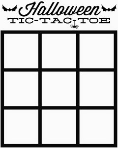 Tic Tac Toe Grid Printable