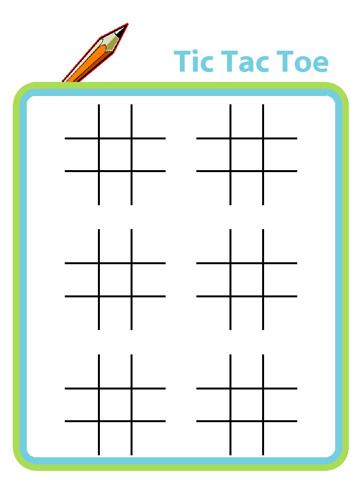 photo relating to Free Printable Tic Tac Toe Board named 15 Thrilling Tic Tac Toe Printables