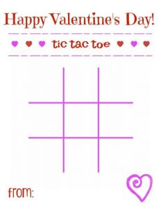 Valentine Day Tic Tac Toe Printable