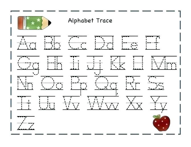 Alphabet Letters to Trace