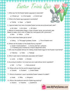 Chocolate Easter Bunny Trivia