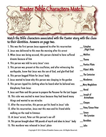 photograph about Bible Jeopardy Printable named 24 Exciting Easter Trivia for On your own in direction of Comprehensive