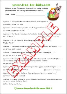 Easter Trivia Games Printable For Youth Preschoolers