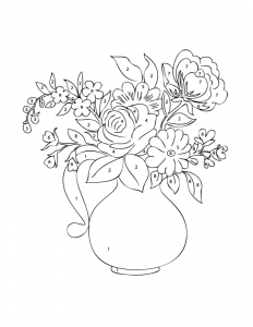 Flower Vase Color By Number