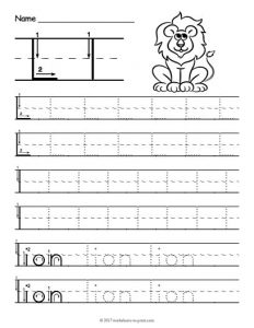 Free Printable Letter L Worksheets