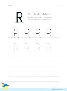 Free Printable Letter R Worksheets