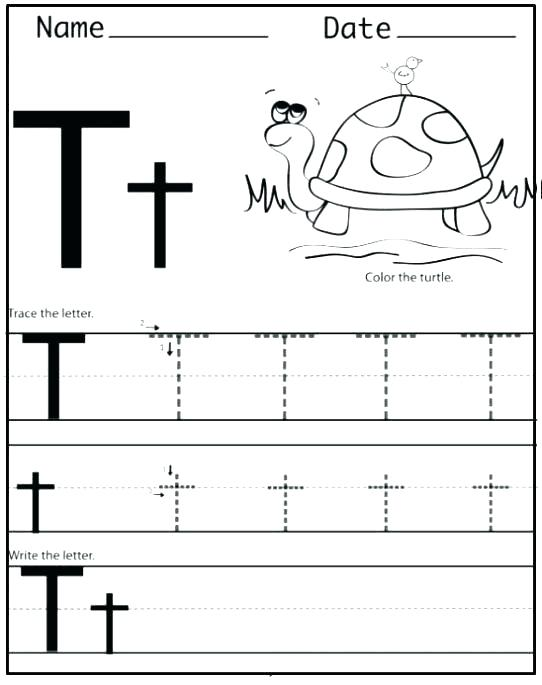graphic about Printable Letter T identify 20 Discovering the Letter T Worksheets