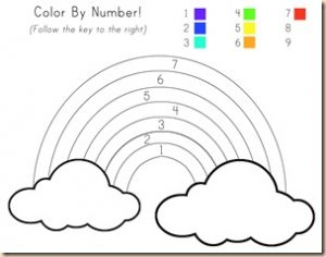 Free Printable Rainbow Color By Number