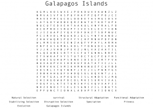 Galapagos Islands Word Search