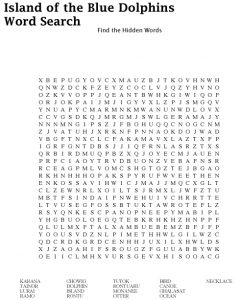 Island of the Blue Dolphins Word Search