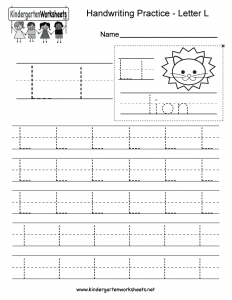 Letter L Handwriting Worksheets