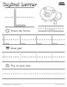 Letter L Worksheets For Kindergarten