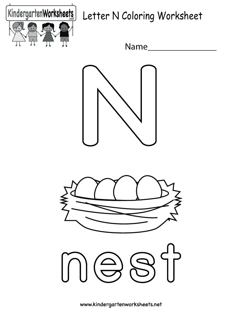 It's just a picture of Simplicity Letter N Printable