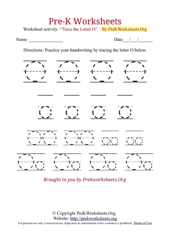 12 Captivating Letter O Worksheets | KittyBabyLove.com