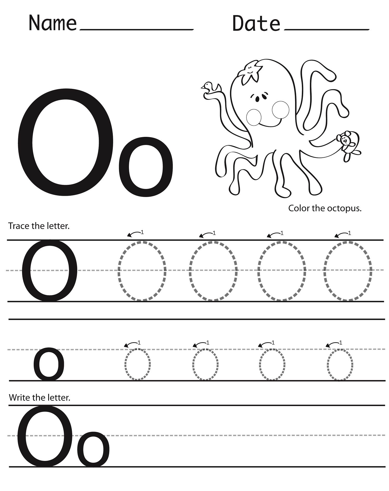 image relating to Printable Letter O identified as 12 Interesting Letter O Worksheets