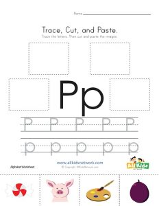 Letter P Cut And Paste Worksheet