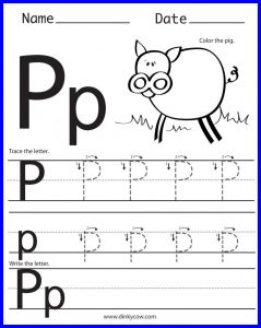 Letter P Worksheets For Toddlers