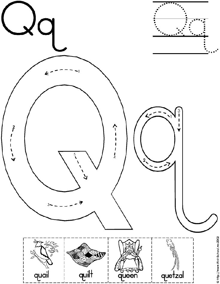 Letter-Q-Worksheets-for-Pre Queen Worksheet For Pre on prefixes re, writing shapes, printable letter, tracing shapes, grade printable, algebra fractions, printable matching,