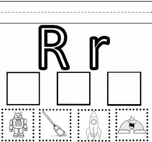 Letter R Cut and Paste Worksheets