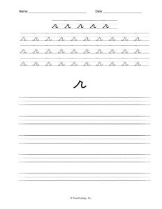 Letter R Handwriting Worksheets