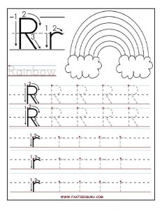 Letter R Tracing Worksheets for Preschool