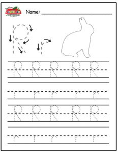 Letter R Worksheets for Pre K