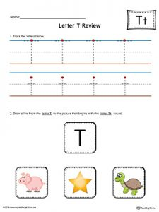 Letter T Beginning Sound Worksheets