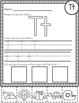 20 learning the letter t worksheets kittybabylovecom
