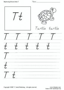 Letter T Handwriting Worksheets Kindergarten