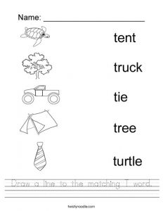 Letter T Matching Worksheets