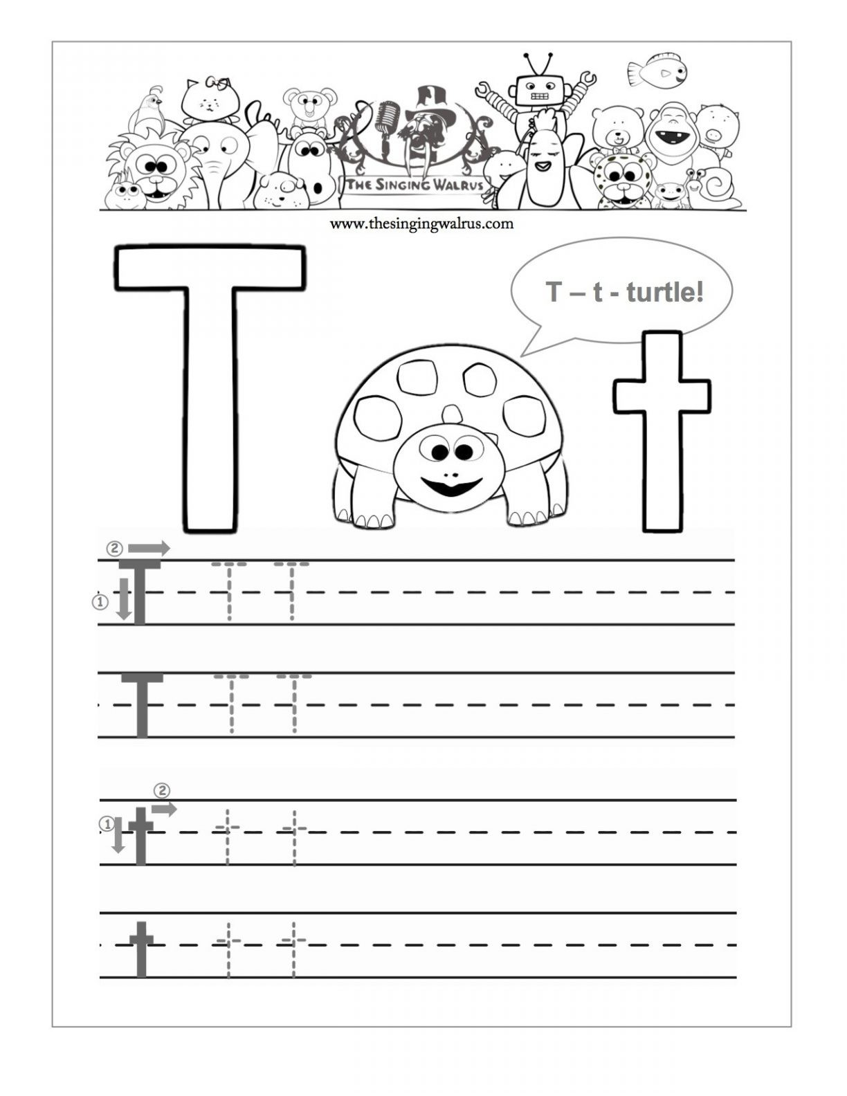 - 20 Learning The Letter T Worksheets KittyBabyLove.com