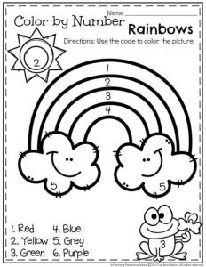 Rainbow Color by Number