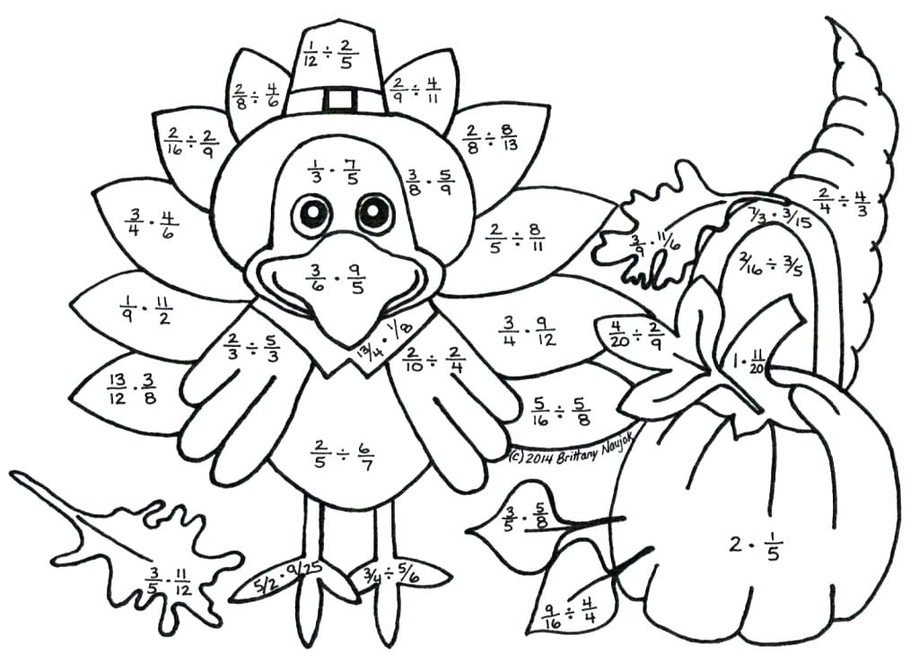 13 Enjoyable Thanksgiving Color by Number Worksheets ...