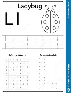 Worksheet for the Letter L
