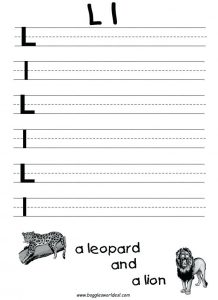 Writing the Letter L Worksheet