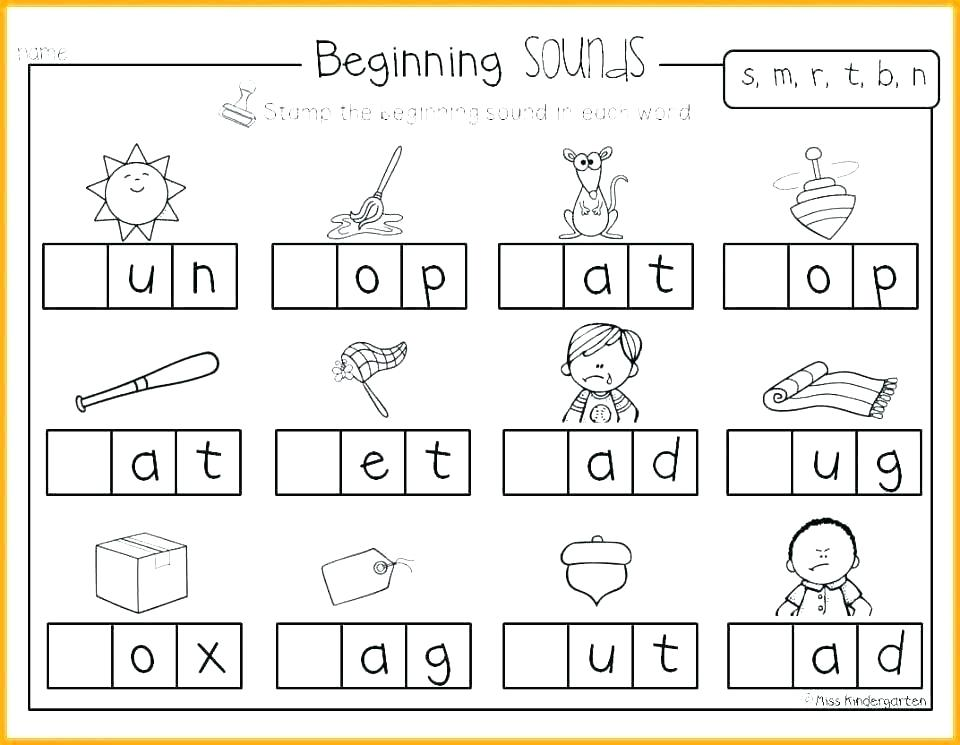 30 beginning sounds worksheets for little ones. Black Bedroom Furniture Sets. Home Design Ideas