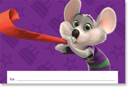 12 Rocking Chuck E Cheese Invitations