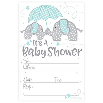photograph regarding Free Printable Elephant Baby Shower Invitations named 13 Elephant Little one Showers Invites for Boys