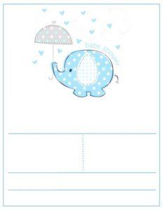 Elephant Themed Baby Shower Invites