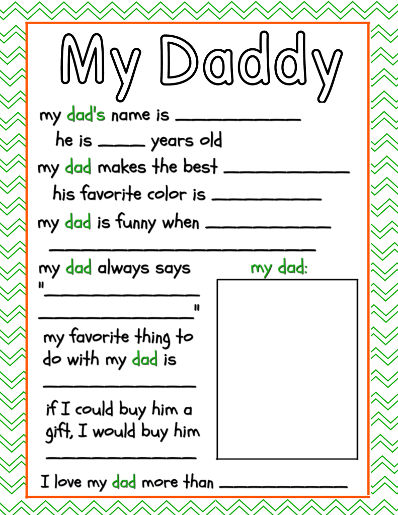 It is a graphic of Influential Dad Questionnaire Printable