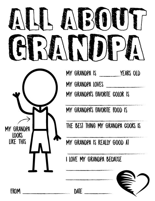 photo relating to All About My Papa Printable named 14 Lovable Fathers Working day Questionnaires
